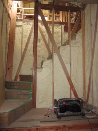 階段の断熱材