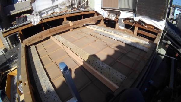 2階の床設置準備
