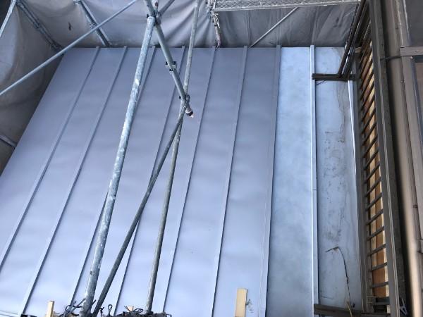1階増設部分の屋根 継ぎ足し
